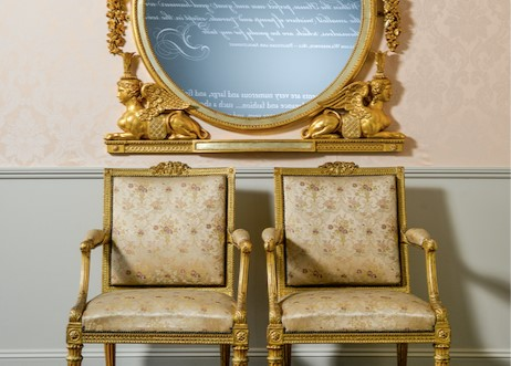 A pair of Chippendale chairs at Harewood House