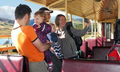 Family enjoying the Ffestiniog & Welsh Highland Railway