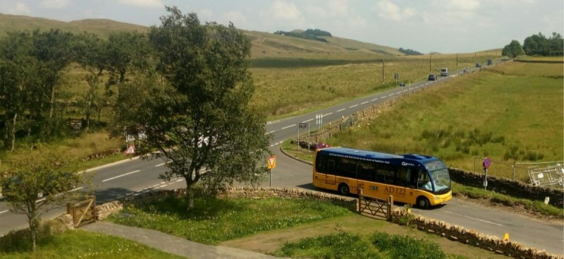 Hadrian's Wall Country Bus in countryside