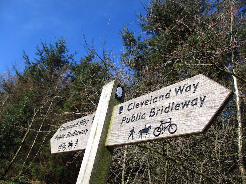 Walking signpost - Northallerton car-free adventures
