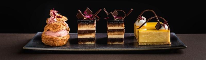Chocolate layered dessert at Brockhole