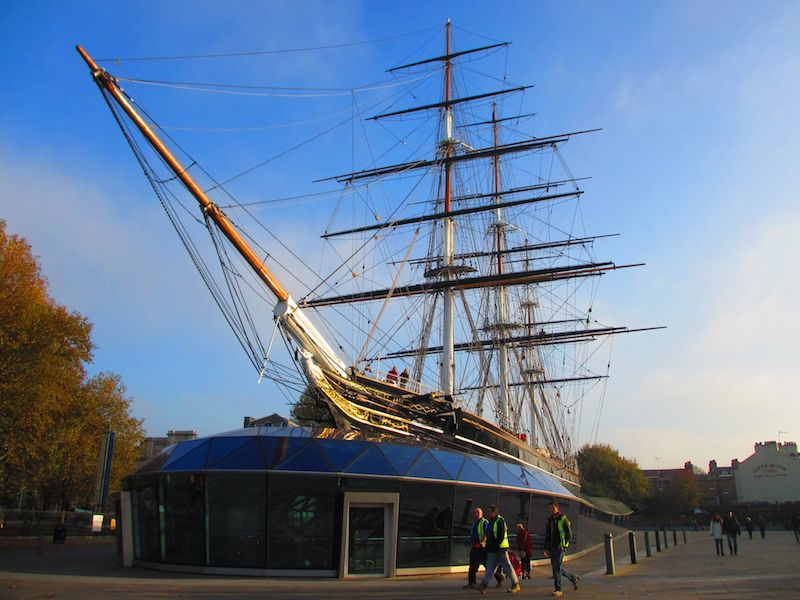 Cutty sark - Woolwich, Docklands and Greenwich car-free adventures.