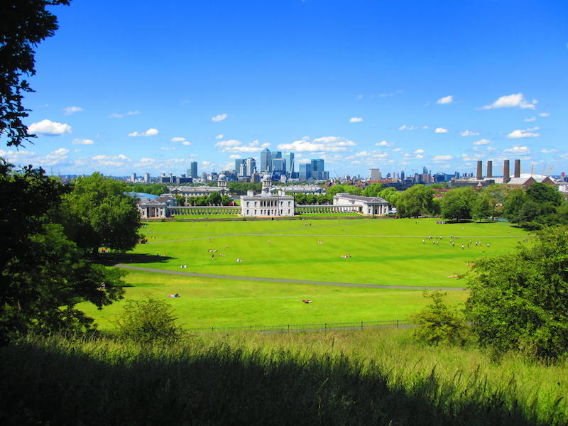 Greenwich observatory view - Woolwich, Docklands and Greenwich car-free adventures.