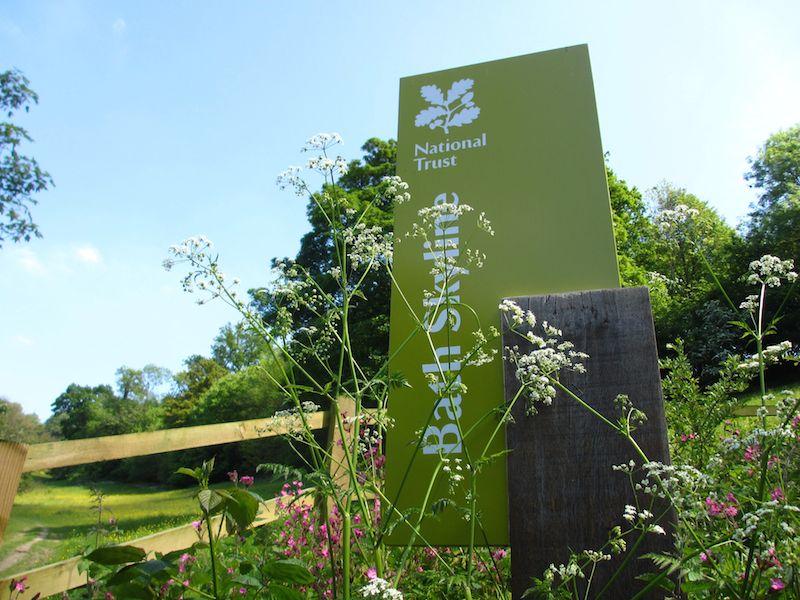 National Trust walk sign - Bath car-free adventures