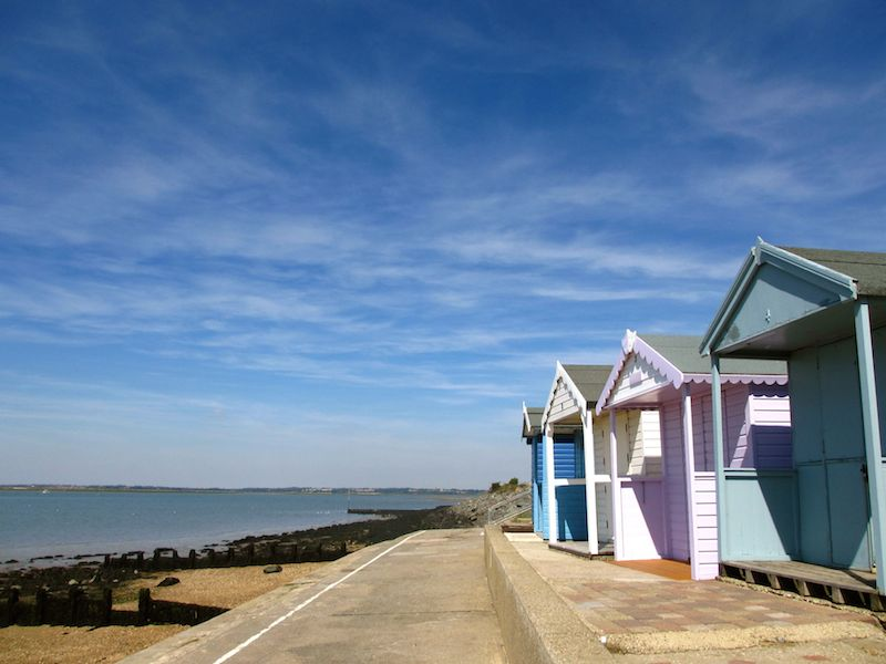 Beach huts - Colchester car-free adventures