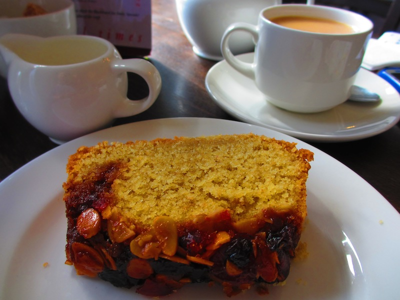 sticky fenland cake - Ely car-free adventures