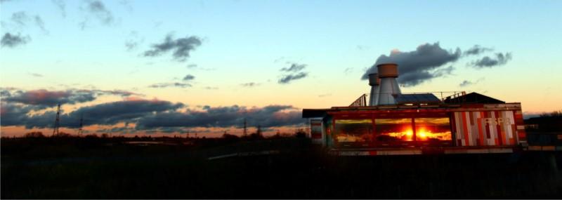 Sunset over RSPB Rainham Marshes