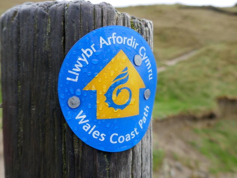 Signpost for wales coast path - Carmarthen car-free