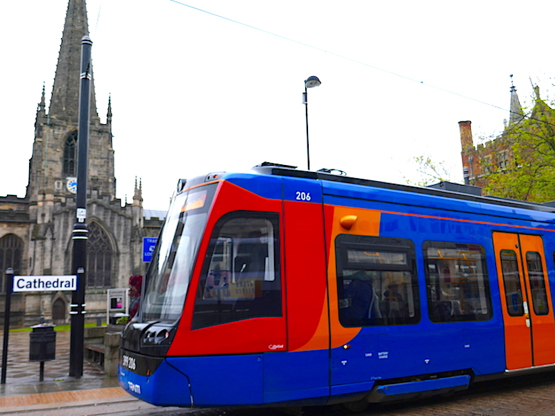Supertram - Sheffield car-free