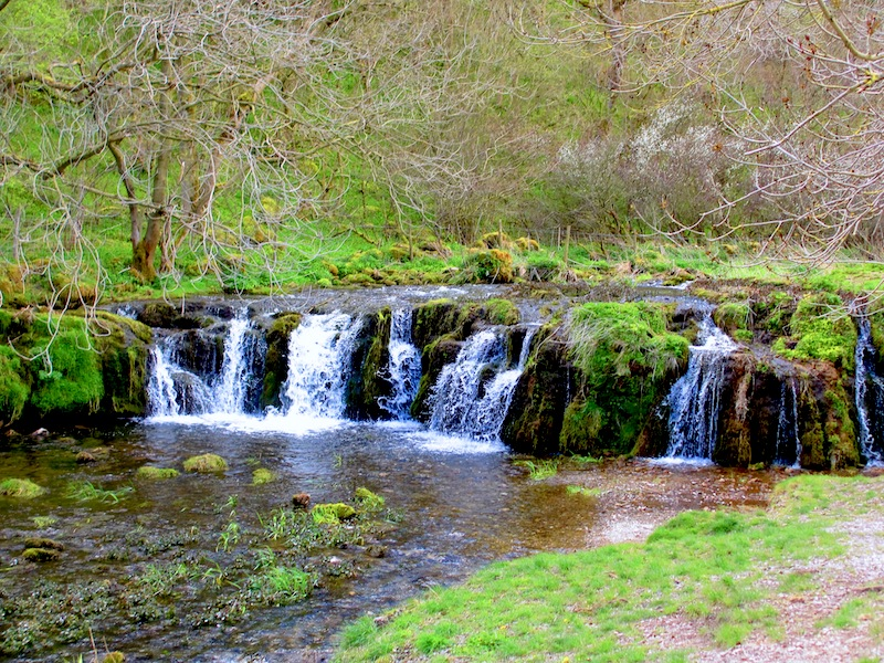 Waterfall in Lathkill Dale - Sheffield car-free
