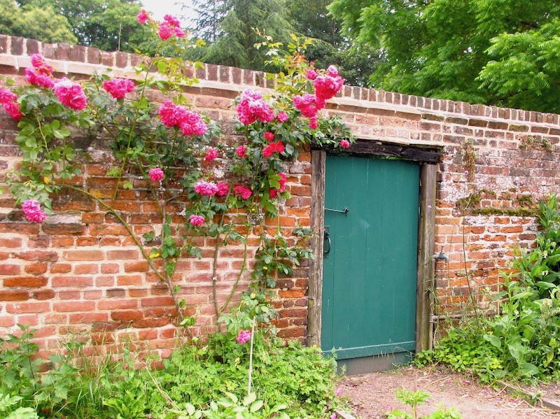 Country garden door with roses - spotted on our car-free summer adventures