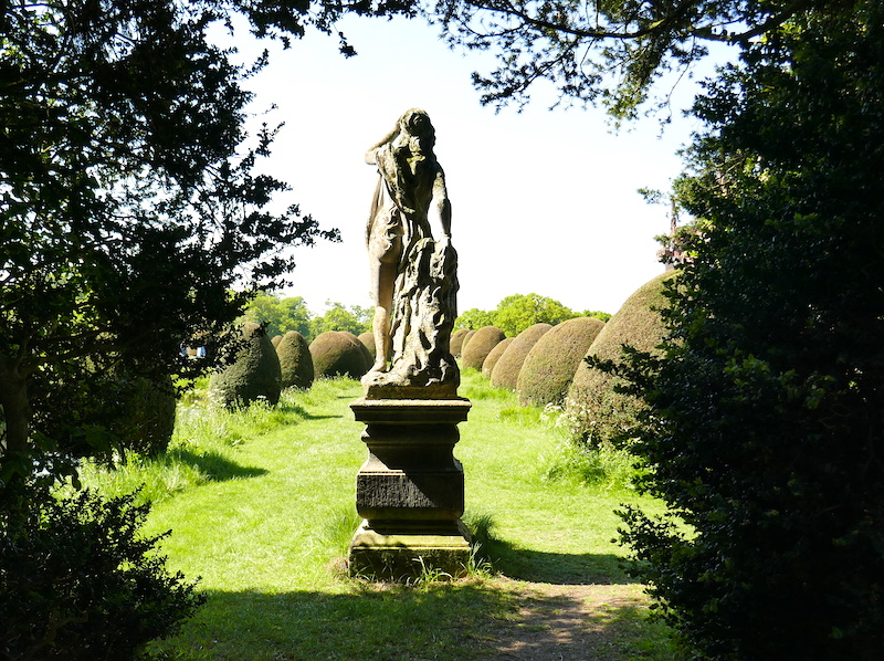 Statue at Helmingham Hall - spotted on our car-free summer adventures