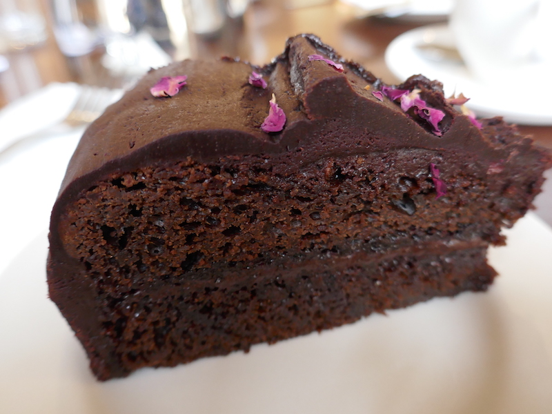 Vegan chocolate cake - eaten on our tour of tea and cakes car-free venues