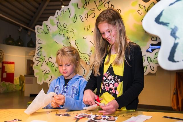Children enjoying crafts at Roald Dahl Museum