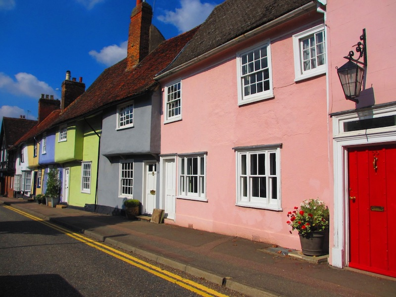 Castle Street in Saffron Walden - spotted on our tour of TV locations for The Crown car-free