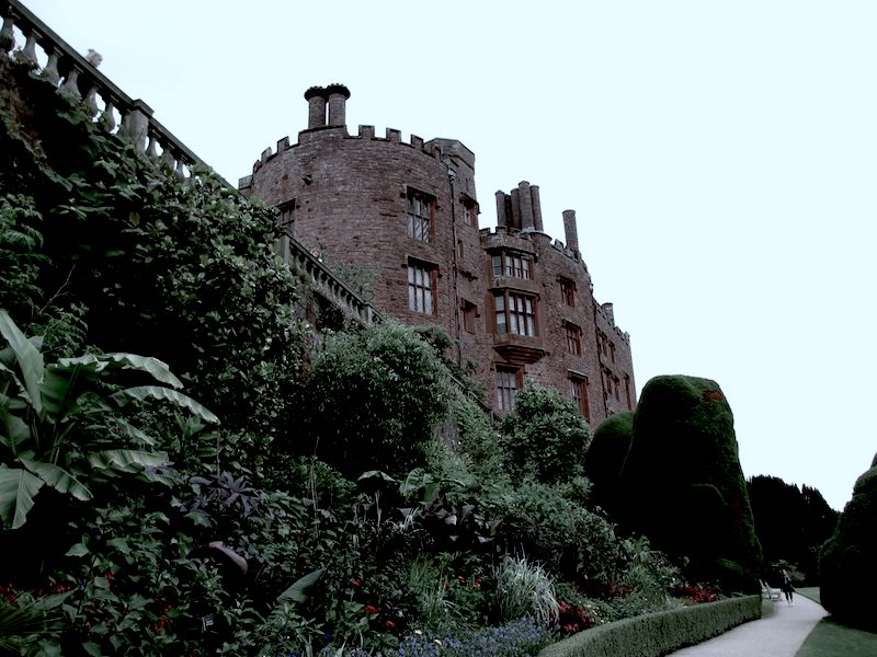 Welshpool Powis Garden - spotted on our car-free haunted journeys around the UK