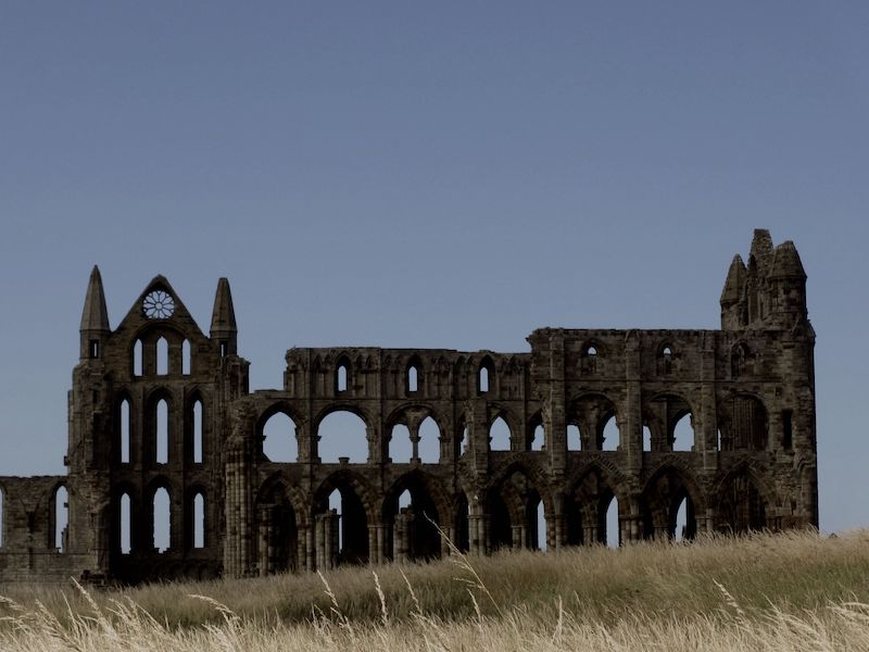 Whitby Abbey - spotted on our car-free haunted journeys around the UK