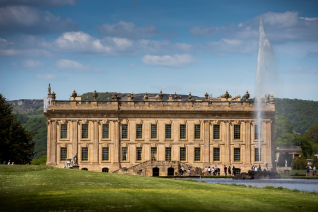Front elevation of Chatsworth house