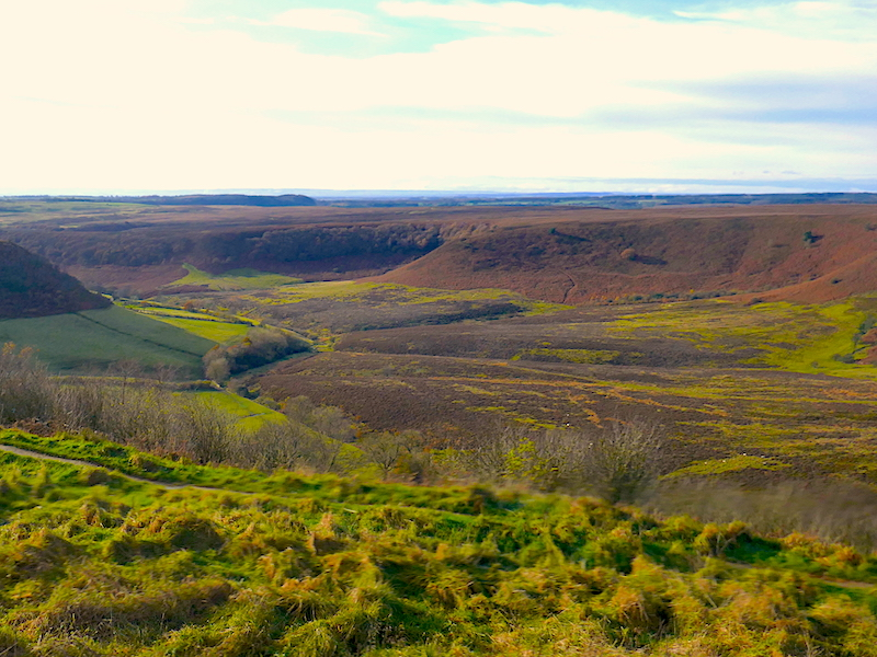 Hole of Horcum - along the route of the Coastliner Buses
