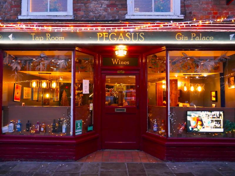 Pegasus bar - visited on our car-free adventures around Canterbury