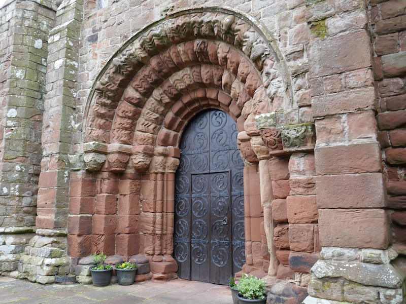 Saint Bee's Priory door - spotted on our Car-free trips to amazing UK churches