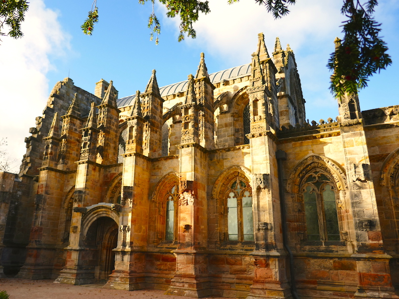 Rosslyn Chapel - spotted on our Car-free trips to amazing UK churches